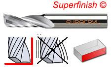PL PF V up cut superfinish